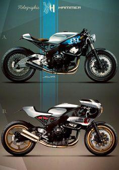 Racing Cafè: Cafè Racer Concepts - Honda CBR 900 1999 Cafè Racer by Holographic Hammer Cafe Bike, Cafe Racer Bikes, Cafe Racer Motorcycle, Cafe Racers, Retro Motorcycle, Motorcycle Design, Bike Design, Garage Design, Modern Cafe Racer