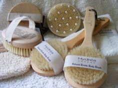 Benefits of Dry Skin Brushing:  1. Removes cellulite  2. Cleanses the lymphatic system  3. Removes dead skin layers  4. Strengthens the immune system  5. Stimulates the hormone& oil-producing glands  6. Tightens the skin preventing premature aging  7. Tones the muscles  8. Stimulates circulation  9. Improves the function of the nervous system  10. Helps digestion