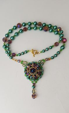 Lotus Blossom from the Gardens of Atlantis Necklace ~ by Detrina Kofroth of The Alluring Bead Boutique