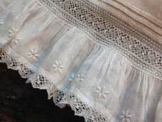 The Old Fashioned Baby Sewing Room: Sweet Embellishment on a Baby Dress