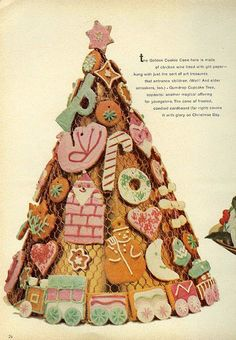 Cookie Cone 1 From Good Housekeeping, December 1961 Merry Little Christmas, Christmas Music, Retro Christmas, Christmas Goodies, Vintage Holiday, Christmas And New Year, All Things Christmas, Christmas Time, Vintage Sweets