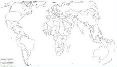 Resultado de imagen de mapas para imprimir del mundo