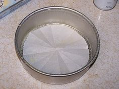 How to easily & perfectly line a round cake pan with parchment paper!  (wish I'd learned this sooner!!)