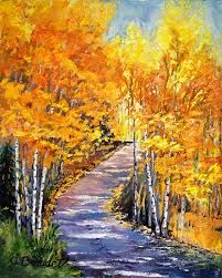 Image result for paintings of trees in autumn