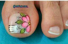 Pretty Toe Nails, Cute Toe Nails, Toe Nail Art, Nail Art Diy, Love Nails, Diy Nails, Pedicure Designs, Toe Nail Designs, Pedicure Nails