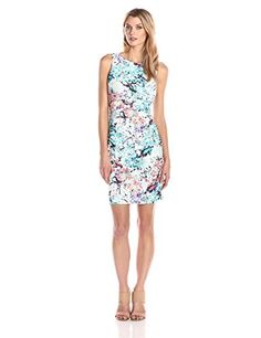 Ivanka Trump Womens Printed Floral Starburst ApricotIvory 10 * More info could be found at the image url.