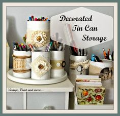 From Overwhelmed to Organized: Day 8 - Cans {31 Cheap & Easy DIY Organizers}