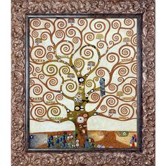 Found it at Wayfair - Tree of Life, Metallic Embellished by Gustav Klimt Framed Original Painting