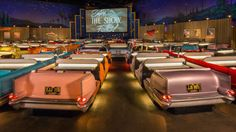 No cars are allowed at America's craziest retro drive-in movie theater