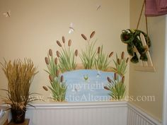 Cattails and Pond for nursery