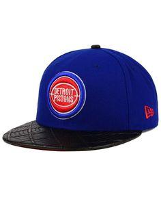 New Era Detroit Pistons Visor Cross 9FIFTY Snapback Cap