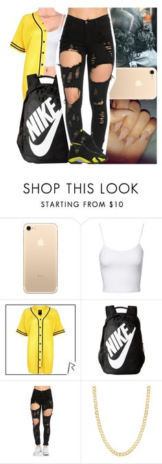 """""""Untitled #1092"""" by msixo ❤ liked on Polyvore featuring Jane Norman, River Island, NIKE, Retrò and Fremada"""