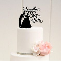 Items similar to Cinderella Wedding Cake Topper, Happily Ever After Wedding Cake Topper, Cinderella Wedding, Fairytale Wedding Cake Topper, Wedding Decor on Etsy Disney Cake Toppers, Disney Cakes, Custom Cake Toppers, Wedding Favors, Wedding Cakes, Wedding Decorations, Wedding Ideas, Disney Decorations, Wedding Planning