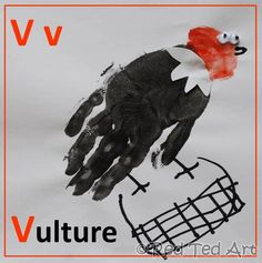 V is for VULTURE... from the Handprint Alphabet Series- gives you step by step instructions & photos for each letter.