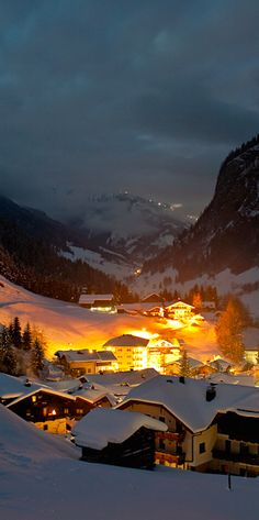 The village of Hüttschlag in Austria's Grossarltal Valley • photo: Jens Schwarz, laif/Redux on National Geographic