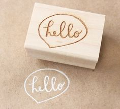 hello speech bubble stamp