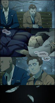 supernatural comic destiel