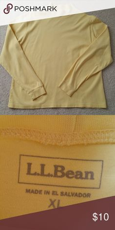 L.L. Bean mock turtle neck Like new, worn maybe twice. 100% Cotton and extremely soft and comfortable. L.L. Bean Tops