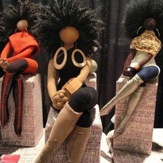 BEAUTIFUL HAND CRAFTED DOLLS BY ARTIST TANYA MONTEGUT VIA BLACK CRAFTERS GUILD