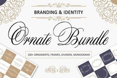 nice Ornate Bundle. Branding identity  CreativeWork247 - Fonts, Graphics, T...
