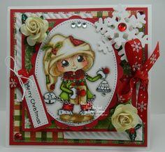 Merry Christmas Handmade OOAK Christmas Card by thehoosierstamper, $14.95 USD