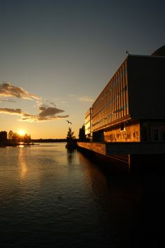 http://swearme.blogspot.fi/   #photography #oulu #finland #landscape    The best of Oulu. The sun is going down as the last seagulls pray on late diners. City theater is bathing in thelast drops of sun.  ©Marika Lindström