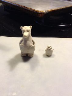 Total the polar bear. that I made out of clay from the Timmy failure series
