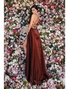 Clarisse - 8089 Deep V-neck Satin Sheath Dress With Train Prom Dresses Online, Dresses For Sale, Open Back Gown, High Fashion Trends, Perfect Prom Dress, Lace Corset, Two Piece Dress, Bridesmaid Dresses, Wedding Dresses