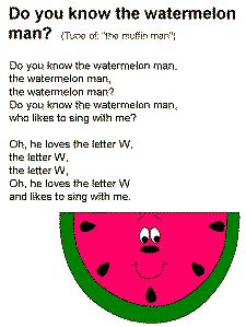 The Watermelon Mann Song Lyrics could use as name game Preschool Music, Preschool Curriculum, Preschool Lessons, Preschool Activities, Kindergarten, Summer Activities, Watermelon Activities, Watermelon Crafts, Summer Crafts For Toddlers