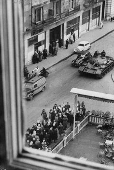 Budapest ~ Hungarian Revolution of 1956. Part of the Cold War and Soviet tank in Budapest.: