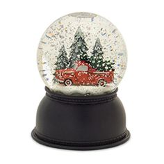 This red farm truck globe is an adorable accent to your Christmas decor. This water globe is lighted and has the classic red truck carrying a tree in the bed. Christmas Tree On Table, Christmas Door Decorations, Christmas Truck, Christmas Cards, Musical Christmas Snow Globes, Wooden Calendar, Wooden Truck, Water Globes, Farm Trucks