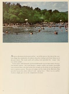 """Athena yearbook, 1957. """"A spring afternoon of relaxation and fun--one of the many at this time of the year."""" :: Ohio University Archives"""