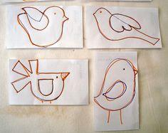 Criações em família & cia.: Projeto e PAP: encontro de pássaros