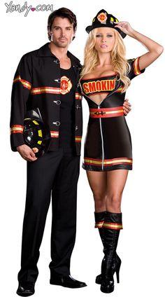 Smokin' Hot Fire Fighter Costume, Sexy Firefighter Costume, Sexy Firefighter Halloween Costume