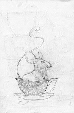 Mice and Teacups by Parker-Nia Gordon, via Behance