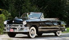 1951 Ford Black Custom DeLuxe Convertible