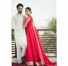 Watch out Breathtaking Photo-Shoot of Most Beautiful Actress Ayeza Khan for Eid 2018 Pakistani Fashion Party Wear, Pakistani Dress Design, Pakistani Bridal, Pakistani Dresses, Indian Dresses, Eid Outfits, Couple Outfits, Fashion Outfits, Eid Dresses