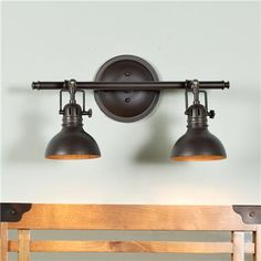 Cool bathroom lights. I can see doing something like this in the apartment. Very masculine and urban looking.