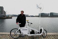 Electric bike solar wind powerd