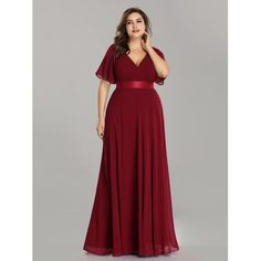 Great for Ever-pretty Plus Size Long Double V-neck Chiffon Evening Dresses Bridesmaid Gown womens dresses from top store Plus Size Long Dresses, Bridesmaid Dresses Plus Size, Evening Dresses Plus Size, Chiffon Evening Dresses, Long Summer Dresses, Short Dresses, Maxi Dresses, Bridesmaid Gowns, Gowns For Plus Size Women