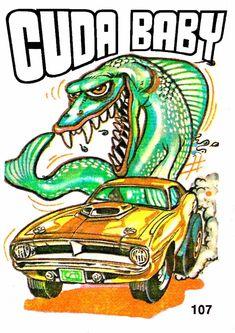 pics of rat rod trucks Cartoon Car Drawing, Cartoon Art, Cartoon Pics, Plymouth Barracuda, Ed Roth Art, Cool Car Drawings, Monster Car, Rat Fink, Mopar Or No Car