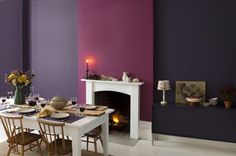 Create a decadent dining room with Twilight Cinders 1 and Russian Velvet 4 #colourscheme #diningroom #inspiration #paint #dulux