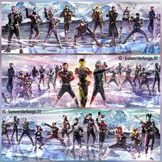 The generation of Kamen rider From Showa Heisei Reiwa Kamen Rider Kabuto, Kamen Rider Zi O, Kamen Rider Series, Dragon Art, Marvel Entertainment, The One, Ranger, Samurai, Pop Culture
