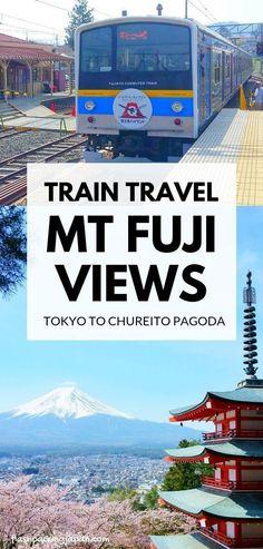 Travel Tokyo Japan to mount fuji views by train in Japan. fujiyoshida station ne… Travel Tokyo Japan to Tokyo Japan Travel, Japan Travel Guide, Asia Travel, Japan Japan, Kyoto Japan, Time Travel, Nagasaki, Hiroshima, Travel Photographie
