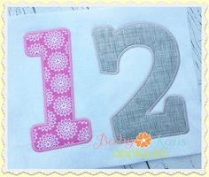 Baby Kay's Appliques - Playful Applique Numbers 4x4, 5x7, 6x10, 8x8, $4.00 (http://www.babykaysappliques.com/playful-applique-numbers-4x4-5x7-6x10-8x8/)