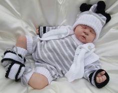 Ensemble Baby Romper Pattern, Baby Boy Romper, Baby Layette, Crochet For Boys, Crochet Baby, Knitted Baby, Knitted Romper, Baby Boy Knitting Patterns, Jumper Knitting Pattern