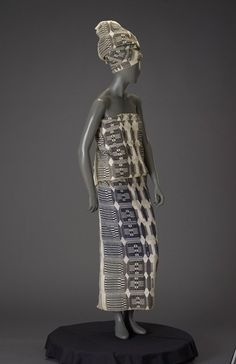 Royal woman's ensemble, Jukun culture, Nigeria, Africa, c. 1960.