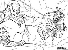 человек паук раскраски для мальчиков лучшие изображения 12
