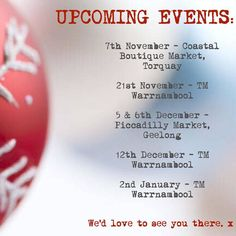 Lots of dates to mark in the diary to come check us out!  #Christmasisntfaraway#upcomingmarkets #coastalboutiquemarket #torquay #tmwarrnambool #piccadillymarketgeelong #warrnambool #geelong #lotsofnewstock #leather #leatherlove #jacleatherco #shoponline #orshopatthemarkets!  by jacleatherco