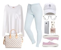 """Sin título #13098"" by vany-alvarado ❤ liked on Polyvore featuring Organic by John Patrick, American Apparel, Louis Vuitton, Vans, Ray-Ban, Samsung and Topshop"